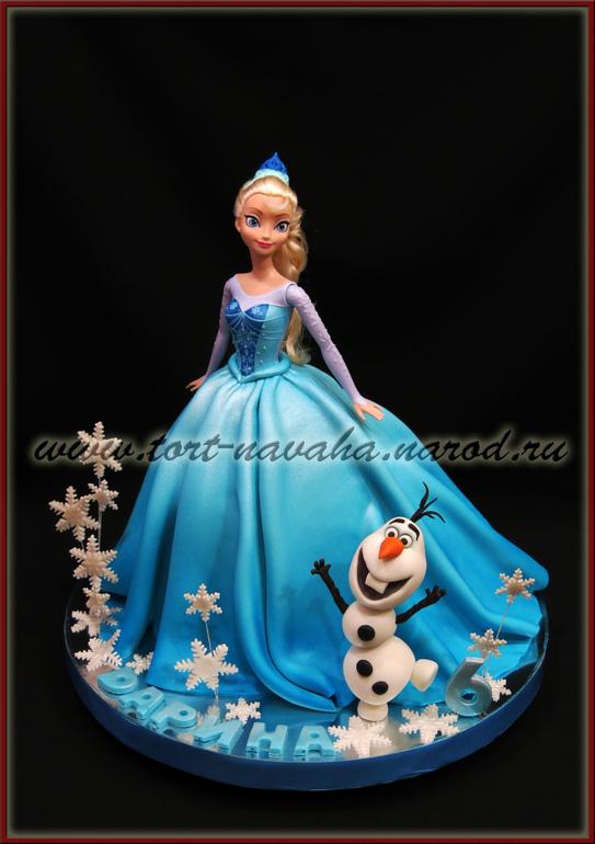Торт белоснежка кукла из вафельной картинки
