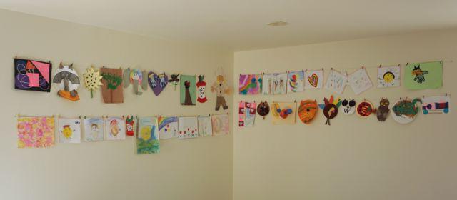Организовала детские поделки и рисунки. Полезные идеи для совместных поделок. Фото.
