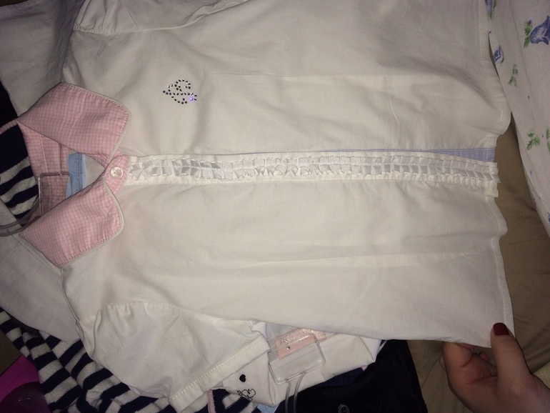 Брендовые  рубашки    ,  blumarine,  elsy(4  -5лет)-  1300р
