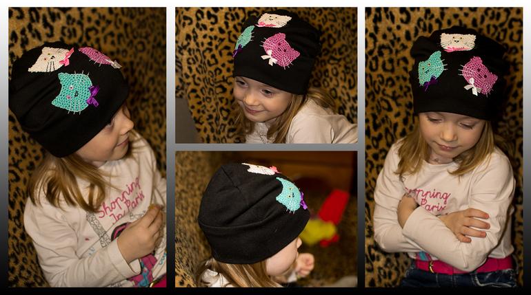 Модная трикотажная шапка своими руками 52