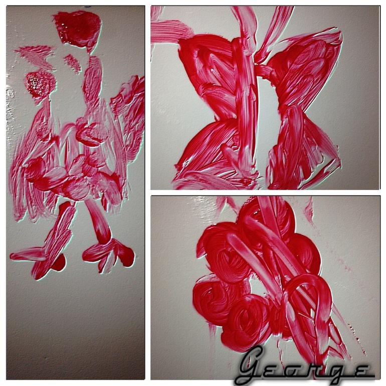 Наши каляки-маляки (красный цвет)