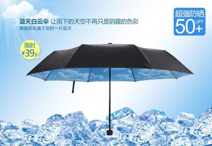 Зонт цвета голубого неба - 410 р - 2 дня