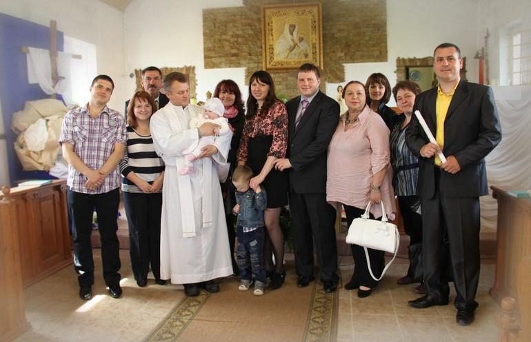 Фото с крестин Агнешки
