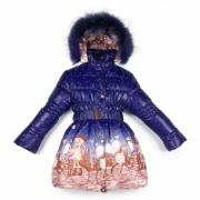 Новое зимнее пальто для девочки р. 122-128