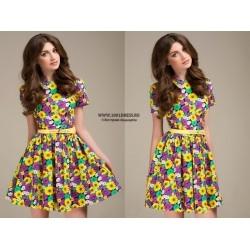 Пристраиваю платье размер S с цветочным принтом 1001dress