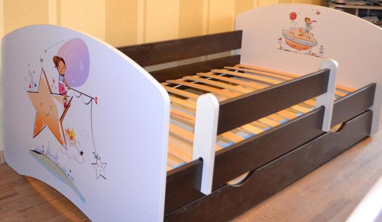 Новая Кровать с Эксклюзивной Аппликацией. Бесплатная доставка.