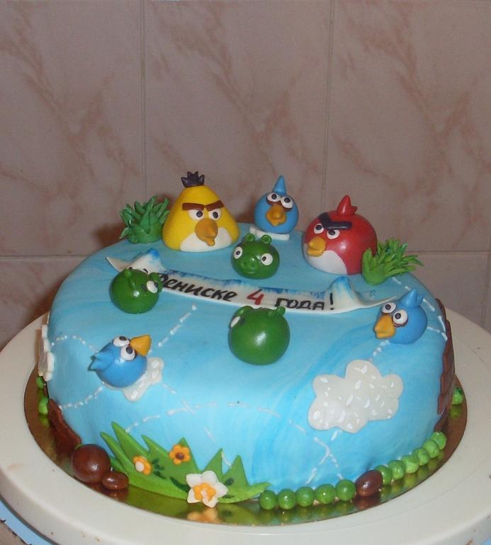 Торт Злые птички
