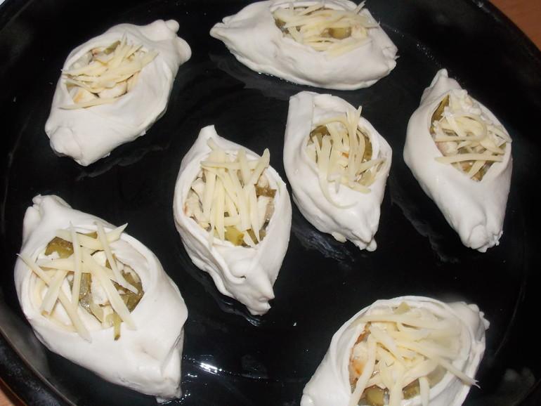 Лодочки с мясом из слоеного теста рецепт пошагово 38