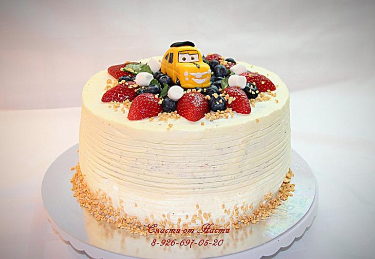 кремовый торт фото детский