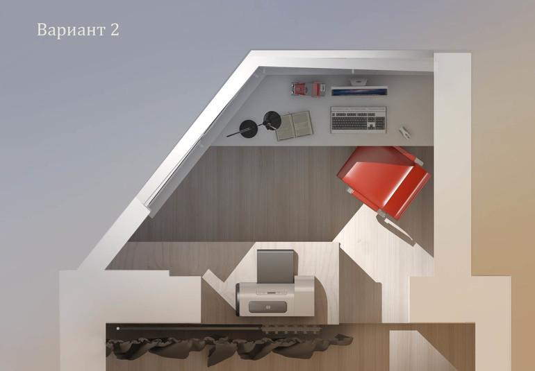 Организация рабочей зоны на балконе. п-44т. - запись пользов.