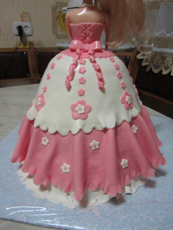 Как сделать торт куклу  видео 19