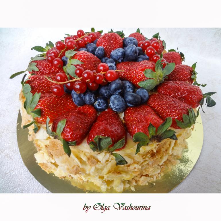 Как можно украсить торт наполеон с фото