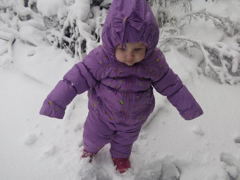 Первый снег!Самый первый!