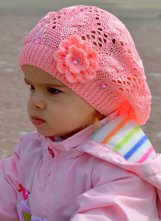 Вязание берета для маленькой девочки