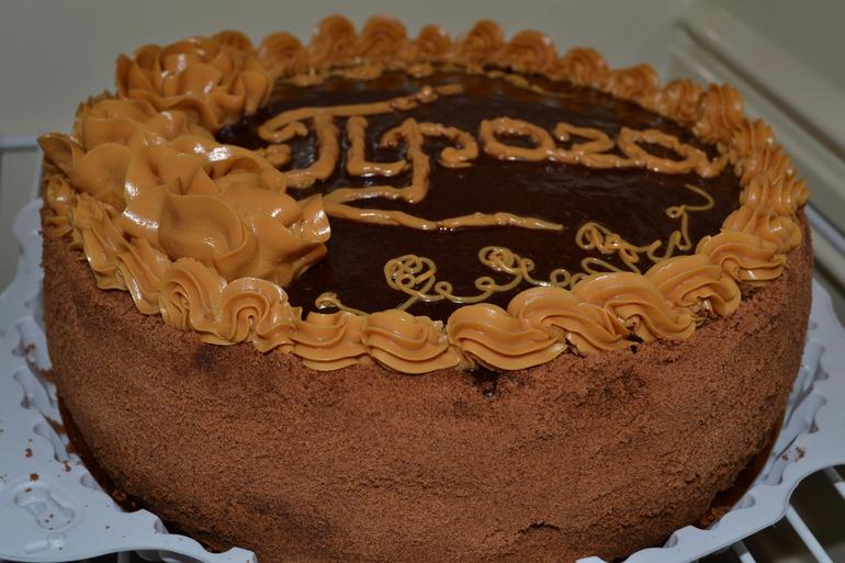 Украшение торта прага фото