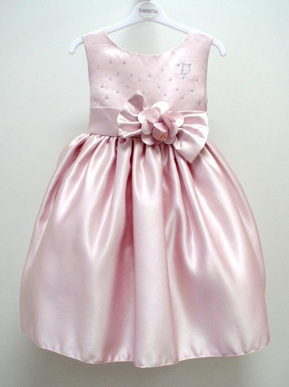 Платье для девочки из атласа своими руками 82