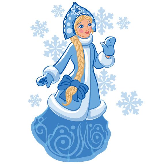 Снегурочка на новый год рисунки