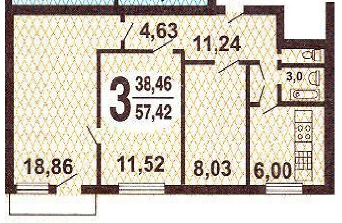 Размер балкона в пятиэтажке 1 515..