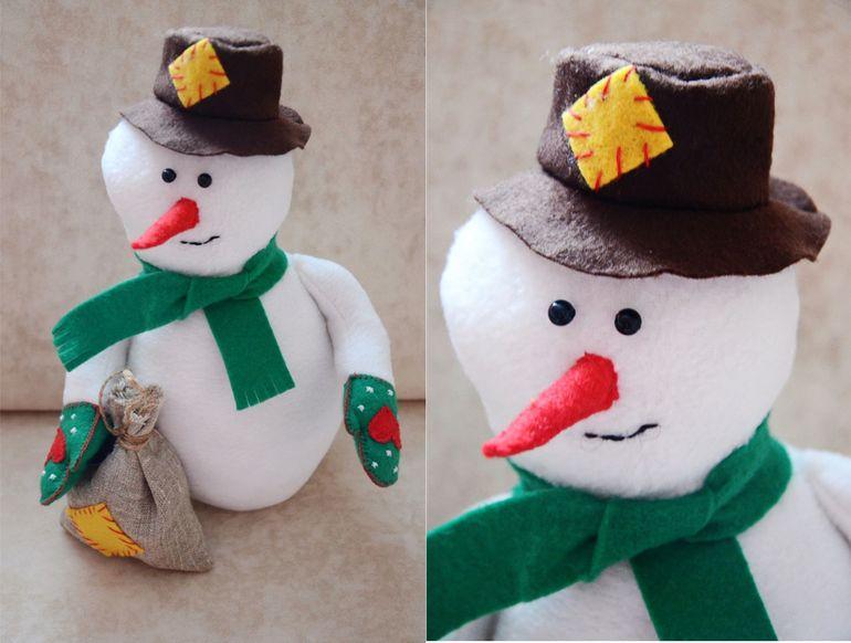 Как шить снеговика своими руками