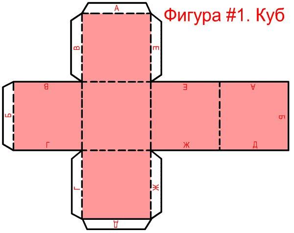 Как сделать куб из бумаги развертки