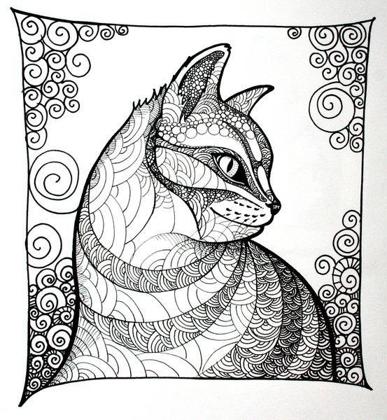 раскраска антистресс фантастические кошки книга