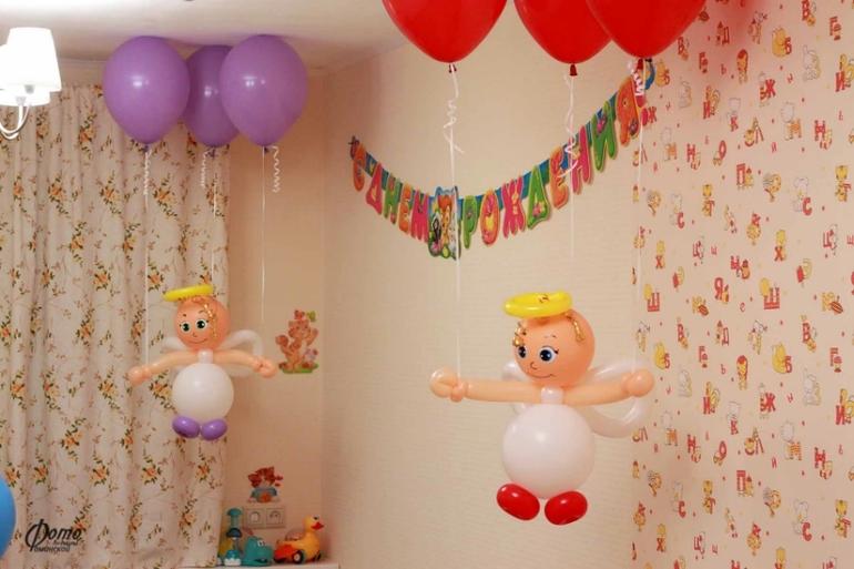 Украшение комнаты на день рождения ребенка 1 годик своими руками фото