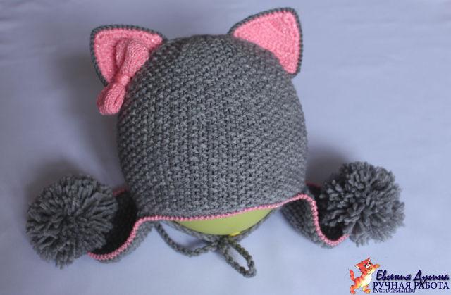 шапка кошка для девочки схема