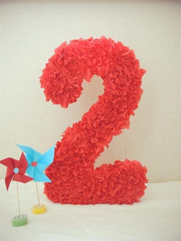 Объемные цифры 5 на день рождения своими руками 4