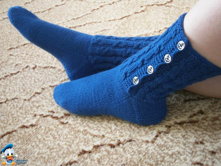 Как связать очень красивые носки спицами