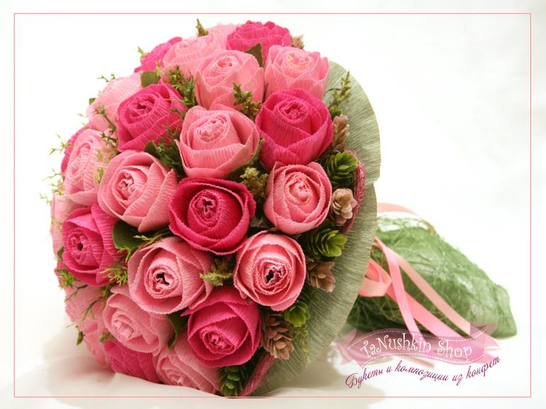 Сделать букет из роз из бумаги своими руками 82