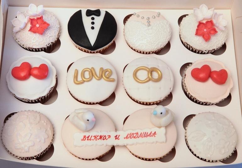 Капкейки на годовщину свадьбы фото