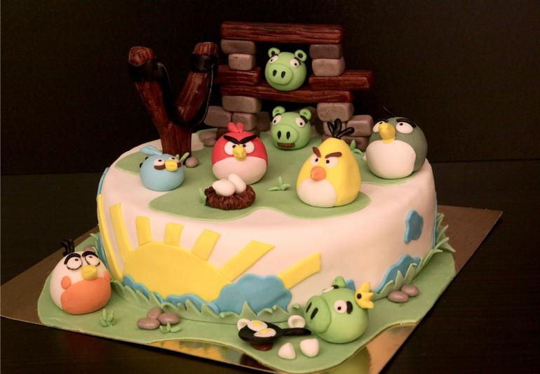 """Торт """"Злые птички"""""""