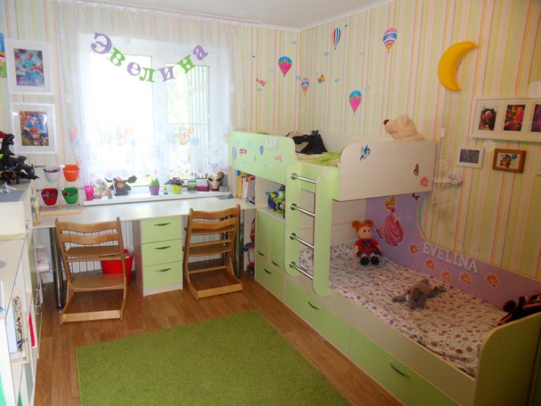 комната для 2 х разнополых разновозрастных детей 13квм запись