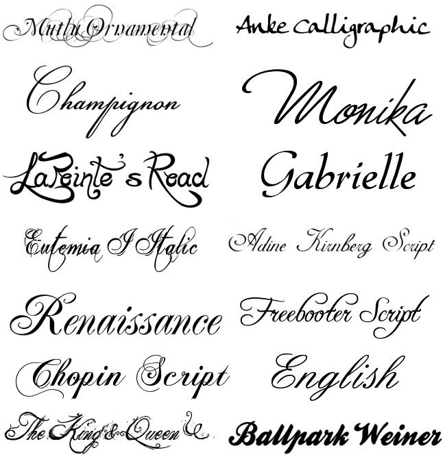 Напечатать Красивым Шрифтом