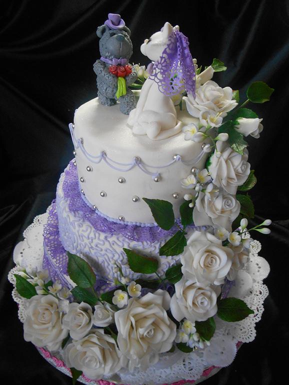 Свадебные торты егуртовые фото