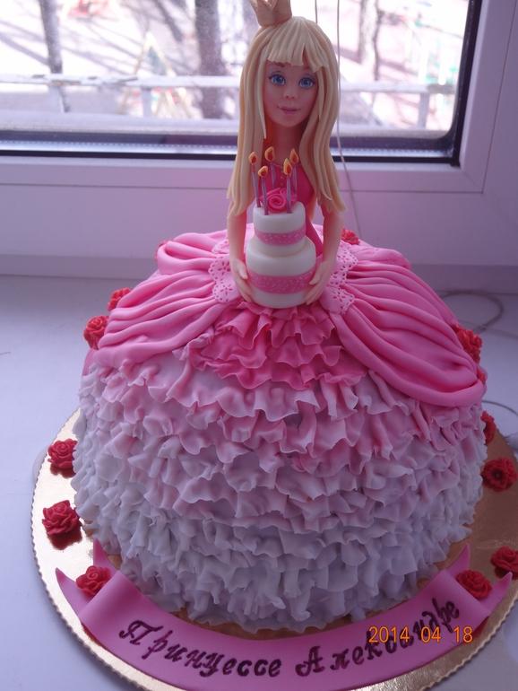 торт кукла фото из сливок