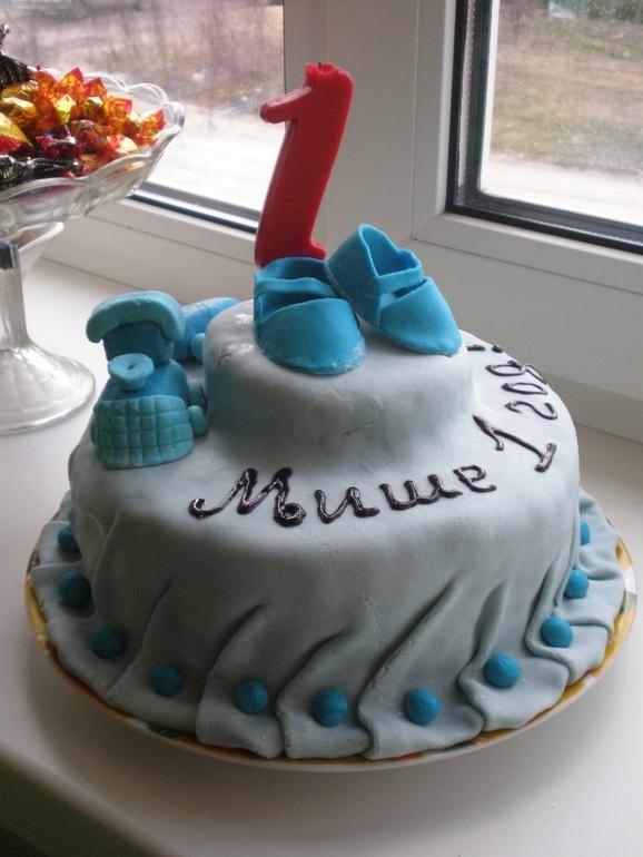 Мой первый тортик на годовасие любимого сыночка.