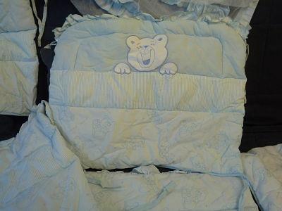 Бампер для кроватки и балдахин мальчику