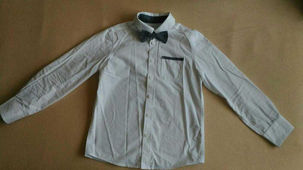 Рубашка с бабочкой, 6л, 116см.