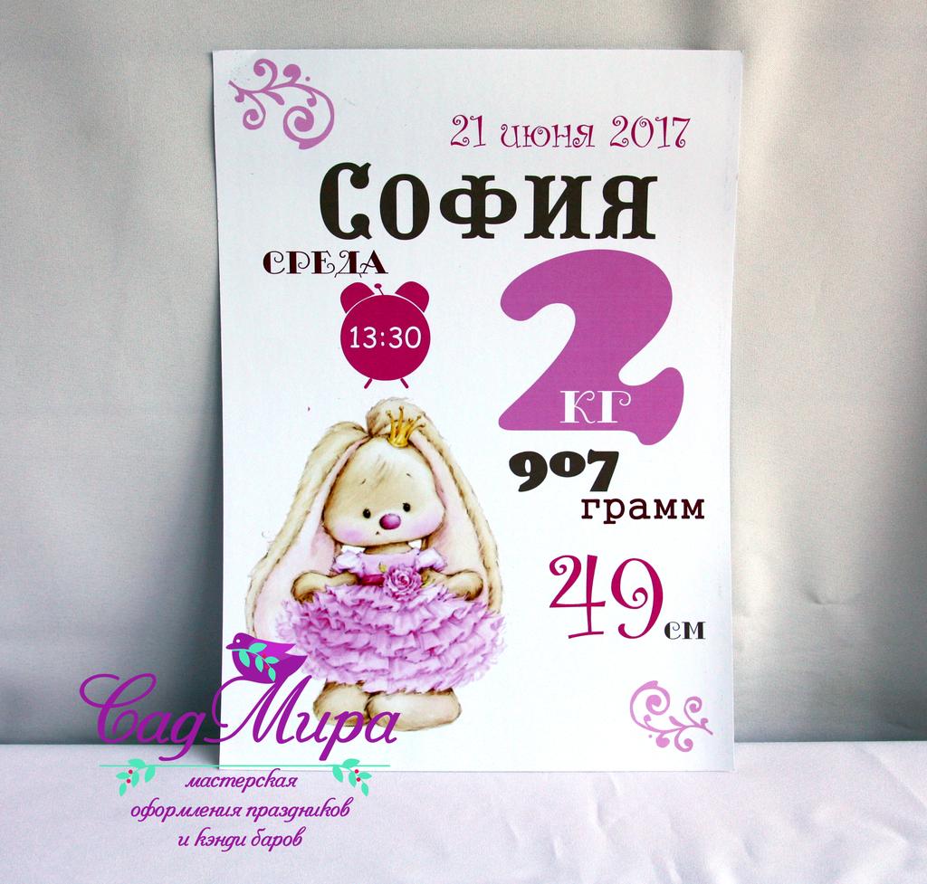 Подарок для новорожденной.
