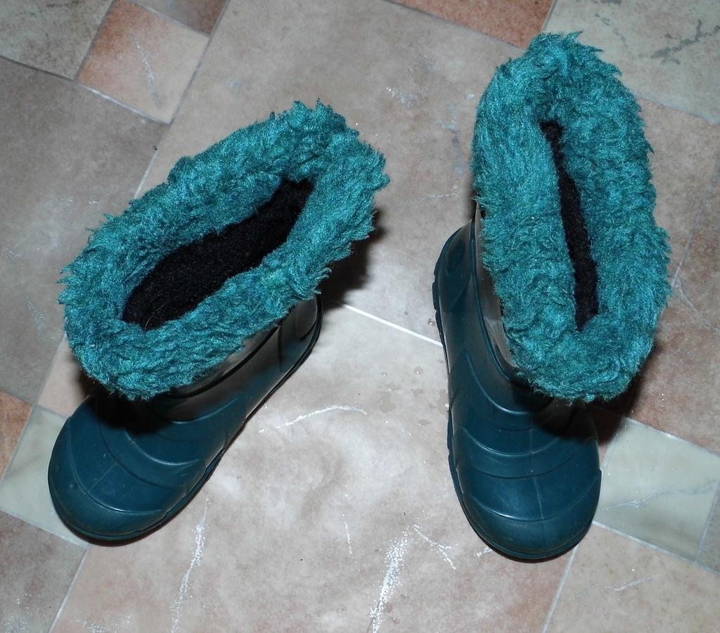 Сапоги резиновые утеплённые (валенок вытаскивается