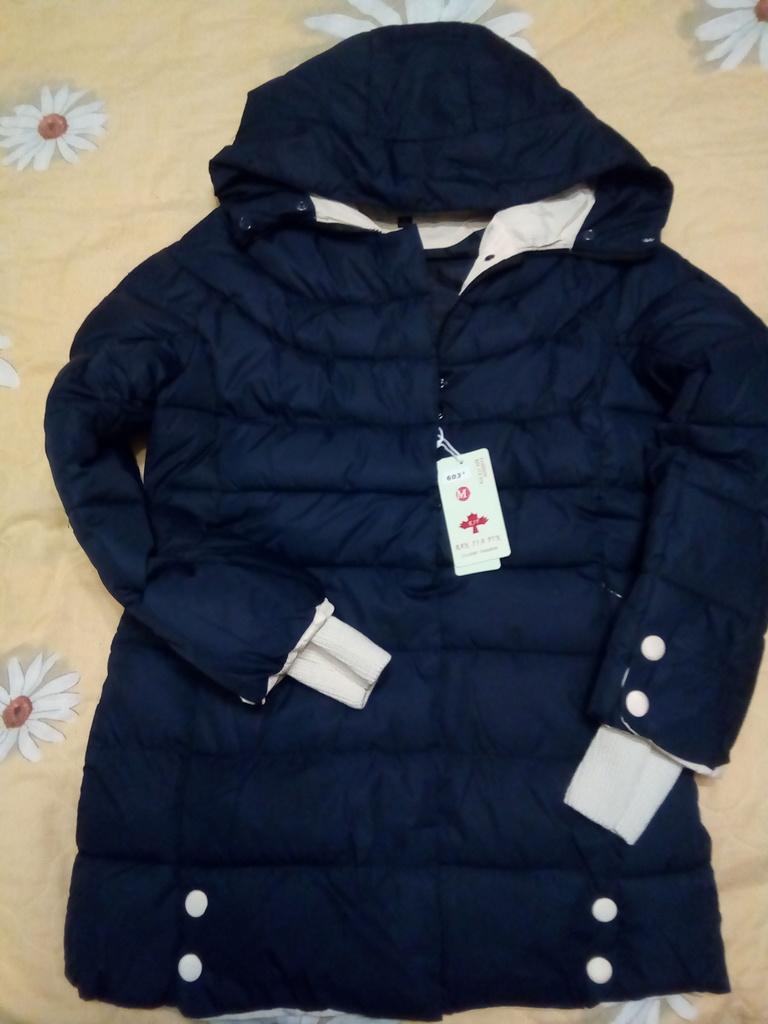 Новая зимняя куртка с трикотажным манжетом