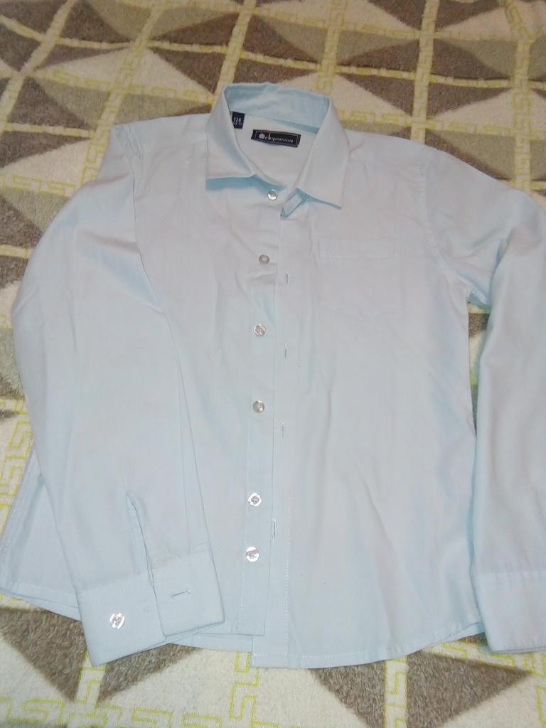 Рубашка Орби (Orby) р.122-128 бу цвет светло-голуб