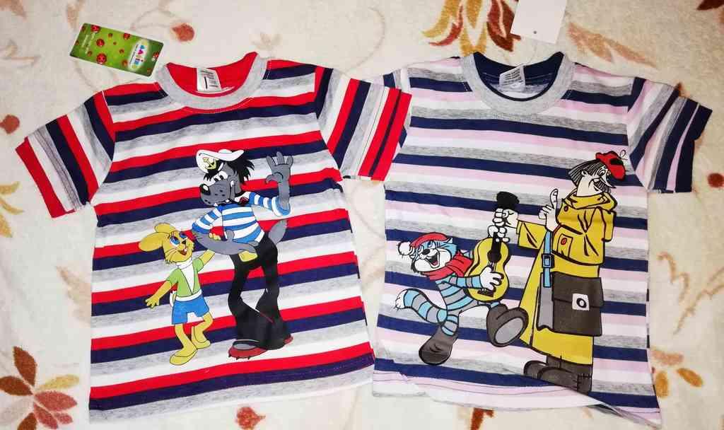 Футболки детские новые пакетом р.68-74 , яркие, хл