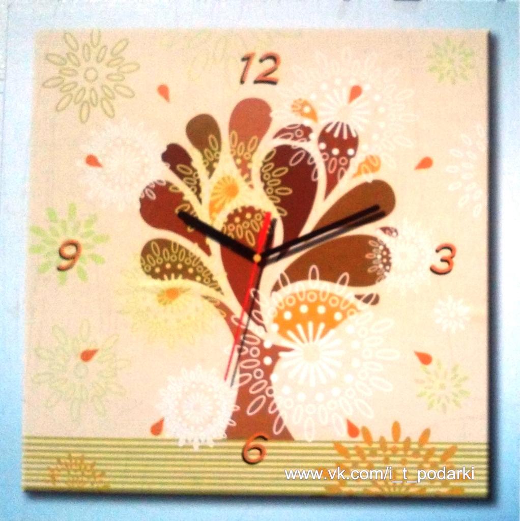 Уникальный подарок - картина-часы настенные