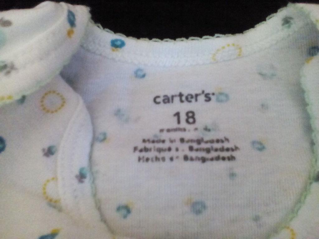 боди с коротким руковом Carters р.18 мес. 2 шт.