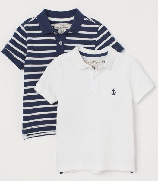 Белая футболка поло h&m 8-10 лет
