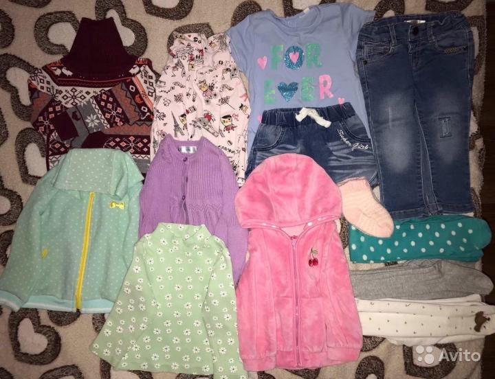 Одежда на девочку пакетом 74-80 размер