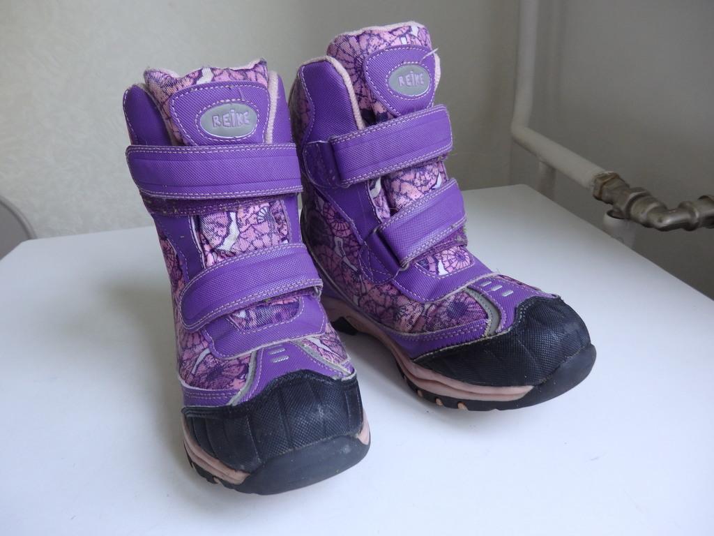 Классные зимние ботинки для девочки 34 р-р