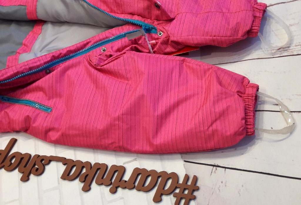 Комбинезон демисезонный ярко-розовый новый